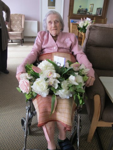 What a surprise this lady must have got to be given these stunning flowers by Floral Angels.