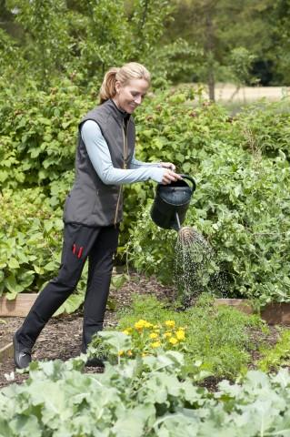 Chic 21st century gardening clothes.
