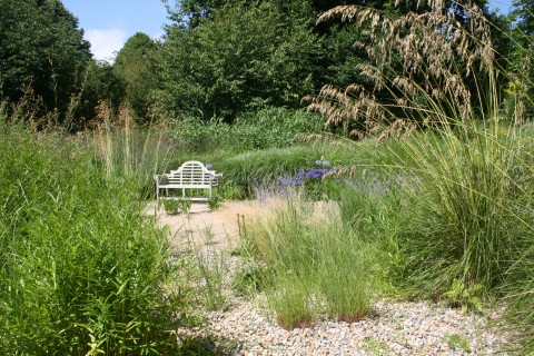 Gravel garden designed by Graham Gough at its best late summer/early autumn.