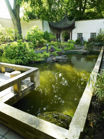 Matara Gardens of Wellbeing, Kingscote, N. Tetbury, Gloucestershire.  A garden dedicated to the symbolic, spiritual and cultural role of trees including a Chinese scholar garden, a Japanese tea garden and a Shinto woodland.
