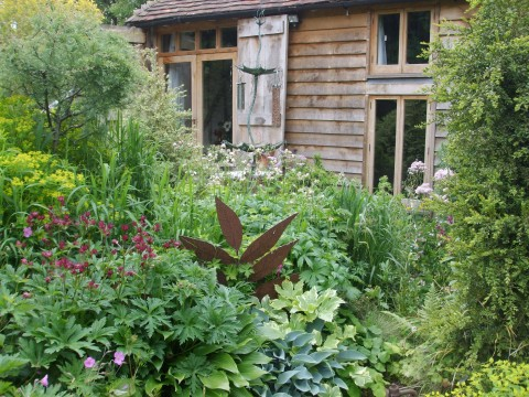 The garden outside the Potting Shed.