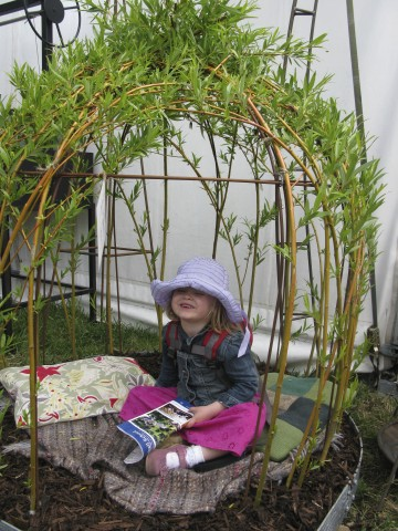 Every child's dream - a iron structure for growing willow around to create a little den.