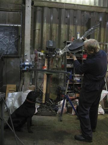 Rob Longley hard at work.