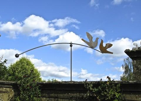 An elegant garden sculpture.