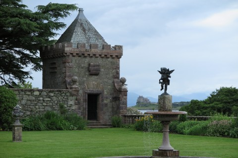 A heady romantic view of Duart Castle from the terrace.