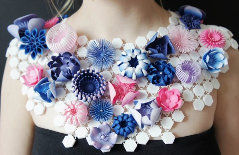 Contemporary floral jewellery.