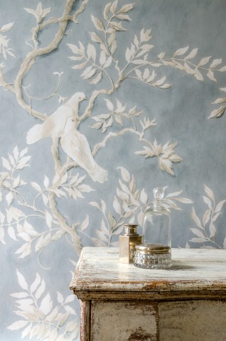 Doves wallpaper designed by Flora Roberts for Lewis & Wood