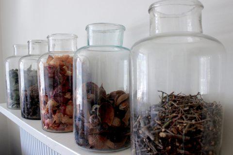 jars of natural dye ingredients